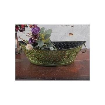 外贸仿古工艺品 铁艺装饰品 仿铜器皿 铁艺花盆