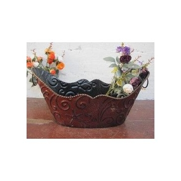 外贸古工艺品 铁艺装饰品 仿铜器皿 铁艺花盆