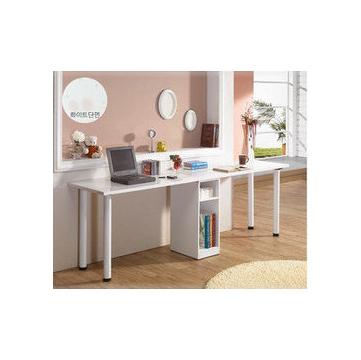 雙人用簡潔書桌 電腦桌書櫃書櫥辦公桌寫字台