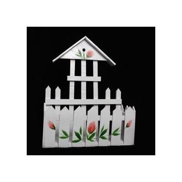 可爱小房子造型长方形花架栅栏式花架可作拍照背景送花