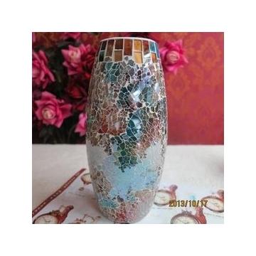 简约现代时尚台面花瓶彩色玻璃花瓶花器餐桌会所酒店装饰花瓶摆件