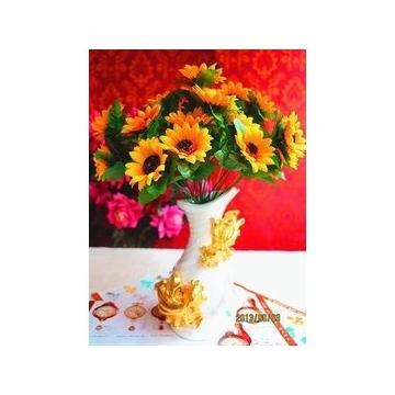 电镀树脂花瓶情侣鱼摆件仿真花插花艺花器餐桌茶几电视柜装饰摆件