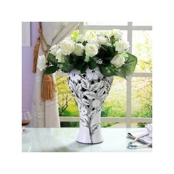 欧式陶瓷现代落地大花瓶家居饰品花器客厅插花摆件创意花插装饰品