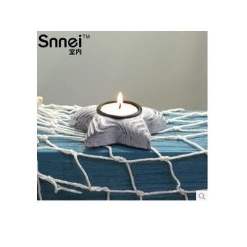 Snnei室內 地中海木制小燭台 蠟燭台擺件 浪漫燭光晚餐小蠟台