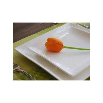 西餐盤 歐式 牛排盤西餐盤子 純白條紋 陶瓷餐具 瓷盤餐盤