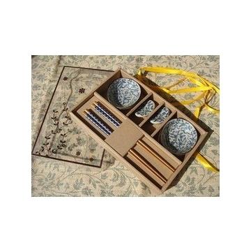 陶瓷餐具6件套裝 碟子 筷子 筷托 商務