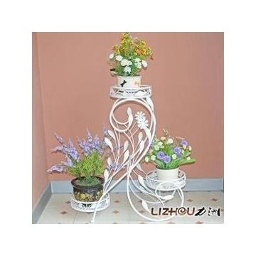 力洲 铁艺花架 落地式花盆架 阳台客厅室内花架 新款