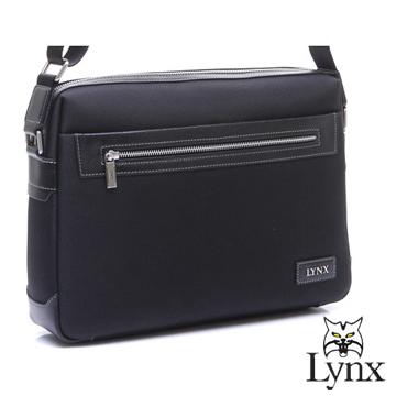 ~Lynx~ 山貓紳士沉穩系列橫式真皮側背包~小^(兩色^)