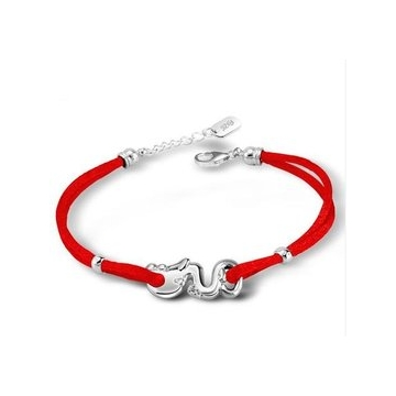 銀漢龍手鏈 紅繩男女 屬龍飾品 送男友
