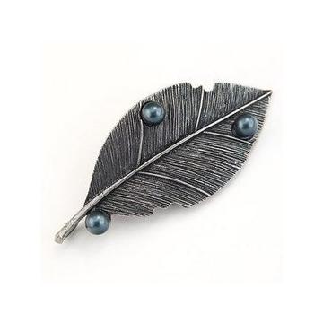 special 複古胸針別針 葉飄零 j盡顯完美氣質 合成珍珠配飾