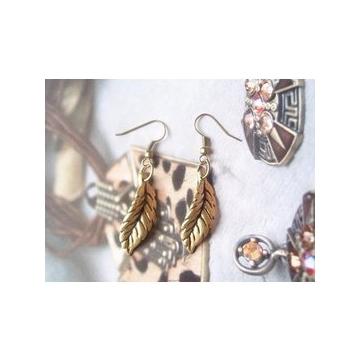飾品 唯美 複古ABS樹葉耳環