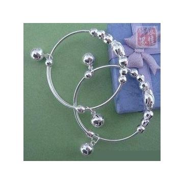銀 DIY串珠寶寶手鐲 一雙價 銀打造 寶寶嬌嫩膚質