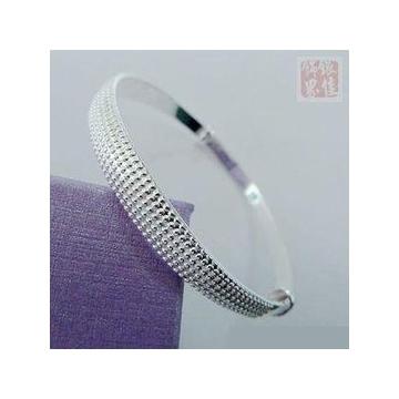 銀 點點伸縮手鐲 穩重 銀打造 佩戴舒適