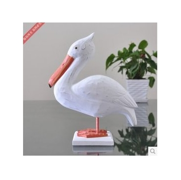地中海風格 木雕裝飾擺件 制作動物 大海鳥擺飾工藝品