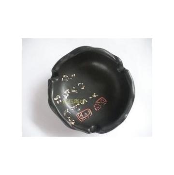 煙灰缸 陶瓷 黑色煙缸 日式 2入
