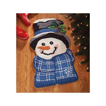 化纖地毯田園風格臥室 織造滌綸客廳 雪人地毯 卡通地毯