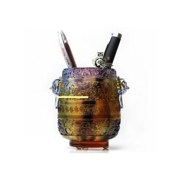王者筆筒  琉璃工藝品 辦公室用品 生日 辦公室