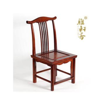 E雅軒齋 花梨木椅子家居 紅木凳子 紅木卯榫結構靠背椅換鞋凳