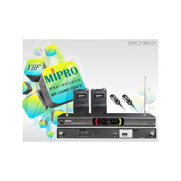 ~嘉強MIPRO MR~123~VHF雙頻道自動選訊接收機 ~配~領夾式麥克風