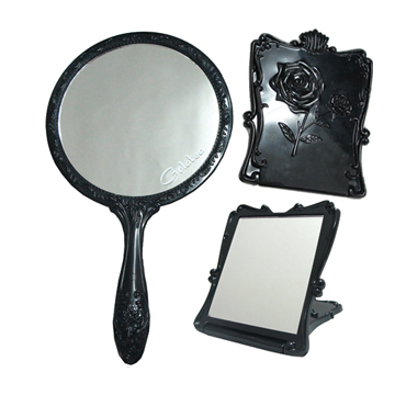~GALATEA葛拉蒂~古典玫瑰手拿鏡 折疊立鏡