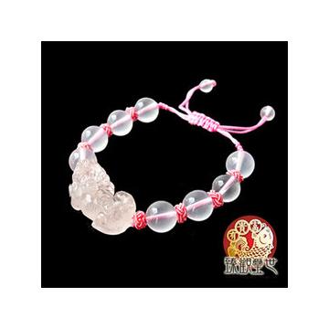 臻觀璽世~IS0059~~絕佳 粉晶貔貅手鏈 手鍊~不斷的為你帶來不同的正桃花