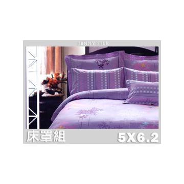 夢想紫舞.100^%PIMA棉. 雙人床罩組全套.全程臺灣
