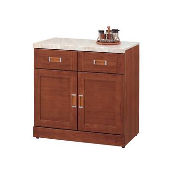 ~ 屋~^~UZ5^~艾菲爾柚木2.7尺石面碗碟櫃934~6免組裝 餐櫃 收納櫃
