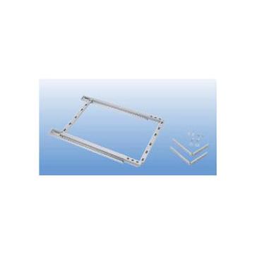 雙層置物架~低框架238x485x453mm~屜頭式~附專利迴歸滑軌~鐵鍍鉻