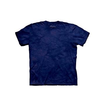 ~摩達客~^(  ^)美國 The Mountain純棉 拉皮斯藍紫 環保藝術波紋底紮染T