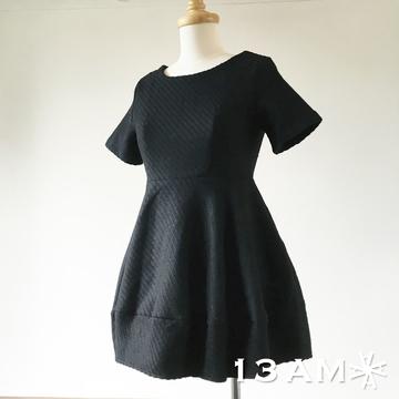 ~ ~13AM~韓國毛料厚實貴族禮服洋裝^(羊毛^)